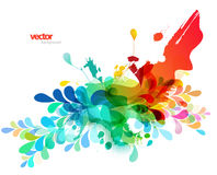 Abstract colored background with different shapes. Royalty Free Stock Images