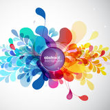 Abstract colored background with different shapes. Stock Photography