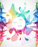 Abstract colored background with different shapes. Stock Images