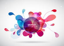Abstract colored background with different shapes. Stock Photo