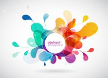 Abstract colored background with different shapes. Royalty Free Stock Photos