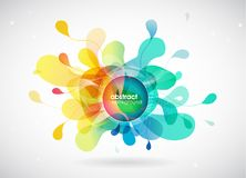 Abstract colored background with different shapes. Vector art vector illustration