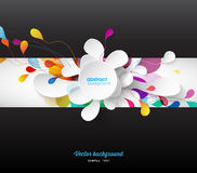 Abstract colored background with flower petals. Vector art stock illustration