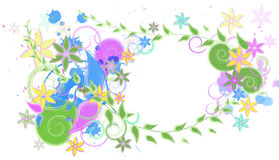 Abstract colored background with flowers. Abstract colored background with swirls and flowers stock illustration