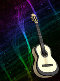 Abstract background with a guitar. Abstract colored background with a guitar royalty free illustration