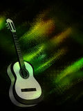 Abstract background with a guitar. Abstract colored background with a guitar stock illustration