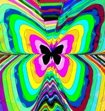 Abstract color image of butterfly. Abstract colored background image of butterfly consisting of lines Stock Images