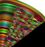 Color patterned image of tube Royalty Free Stock Photography