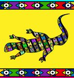 Abstract colored image of lizard Royalty Free Stock Image