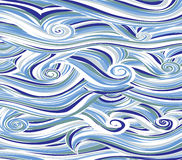 Abstract colored background is imitating the sea waves.Vector. Art Royalty Free Stock Photo