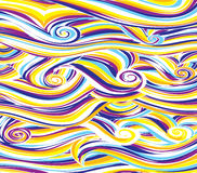 Abstract colored background is imitating the sea waves.Vector. Art Royalty Free Illustration