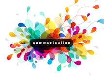 Abstract colored background with leafs. And Communication quotation Royalty Free Stock Photos