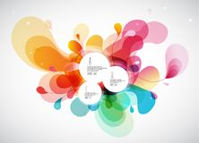 Abstract colored background with leafs and place for your 3 quot. Es. Vector art Stock Image