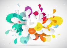 Abstract colored background with leafs. And place for your 3 quotes Stock Photo