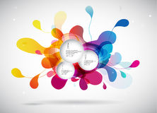 Abstract colored background with leafs. And place for your 3 quotes Stock Photography