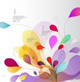 Abstract colored background with leafs. Vector art Royalty Free Stock Images