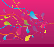 Abstract colored background with lines. Stock Image