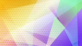 Abstract halftone dots background. Abstract colored background of lines, polygons and halftone dots stock illustration