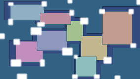 Abstract colored background. Made from rectangles and some cut paper with shadows Stock Image