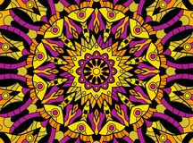 Abstract colored background from a mandala. Vector Royalty Free Stock Photos