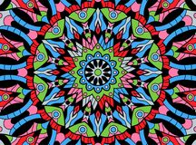 Abstract colored background from a mandala. Vector Stock Photo