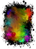 Abstract colored background of spray paint. Stock Images