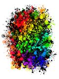 Abstract colored background of spray paint. Royalty Free Stock Photo