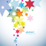 Abstract colored background with stars. Royalty Free Stock Photography