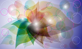 Abstract colored background. With swirls royalty free illustration