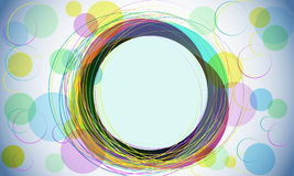 Abstract colored background. With swirls stock illustration