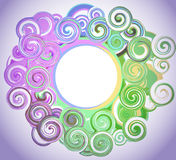 Abstract colored background. With swirls vector illustration