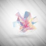 Abstract colored background, triangle design Stock Photography