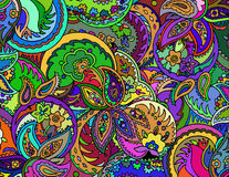 Abstract colored background from a variety of patterns. Vector Stock Photography