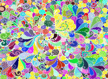 Abstract colored background from a variety of patterns. Vector Royalty Free Stock Photos
