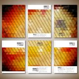 Abstract colored backgrounds, triangle design Stock Photos