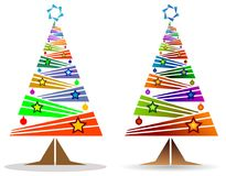 Abstract colored bars x mass tree Royalty Free Stock Photo
