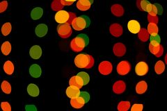 Abstract colored bokeh textures. Colored bokeh textures - abstract photo on the black background for adding and editing as the background layer in the multiply stock photo