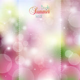 Abstract colored bright spots. Abstract floral background with glare and rays royalty free illustration