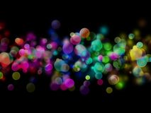 Abstract colored bubbles Royalty Free Stock Photos