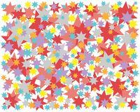 Background colored stars red blue yellow starry sky royalty free illustration
