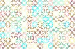 Abstract colored circles, bubbles, sphere or ellipses shape pattern. Repeat, art, canvas & illustration. Abstract colored circles, bubbles, sphere or ellipses Royalty Free Stock Photo