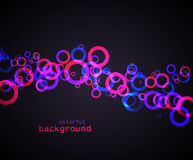 Abstract colored circles Royalty Free Stock Photography