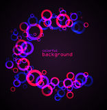 Abstract colored circles Royalty Free Stock Photos