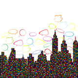 Abstract colored city Royalty Free Stock Photo