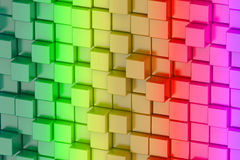 Abstract colored cubes art background Stock Images