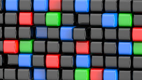 Abstract colored cubes background Stock Image