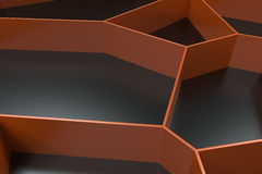 Abstract colored 3d voronoi grate on black background. Speaker grille. Chaotic line structure. 3D render illustration Stock Image