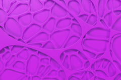 Abstract colored 3d voronoi organic structure Stock Photography