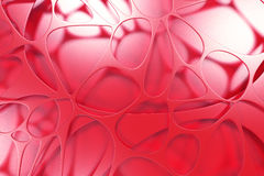 Abstract colored 3d voronoi organic structure Stock Photo