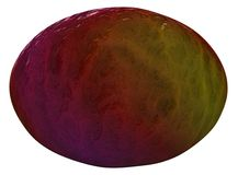 Abstract colored ellipsoid with water wawes surface Stock Images